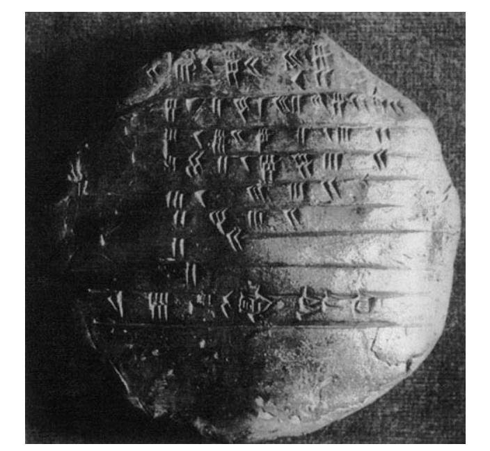 Математическая табличка (Сумма 70, умноженная на 2. Шумер, до 2050 г. до н.э.)
